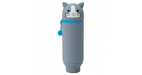 LIHIT LAB Punilabo Stand Pen Case - Grey Cat