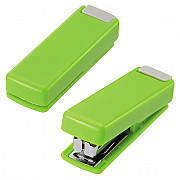 LIHIT LAB M-20 Mini Stapler - 10 Pages - Green