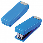 LIHIT LAB M-20 Mini Stapler - 10 Pages - Blue