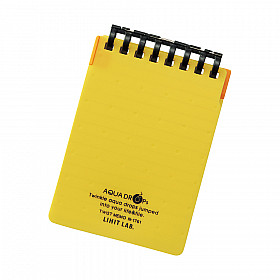 LIHIT LAB Aquadrops Twist Memo Mini Notebook - A7+ - 40 pages - Ruled - Yellow