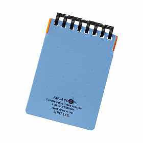 LIHIT LAB Aquadrops Twist Memo Mini Notebook - A7+ - 40 pages - Ruled - Light Blue