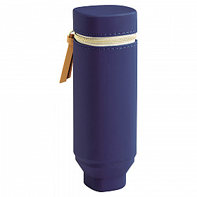 LIHIT LAB Bloomin Stand Pen Case - Navy Blue