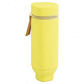 LIHIT LAB Bloomin Stand Pen Case - Lemon Yellow
