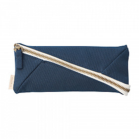 LIHIT LAB HINEMO Wide Open Pen Pouch - Navy Blue