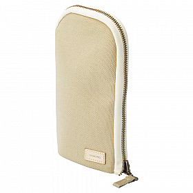 LIHIT LAB HINEMO Stand Pen Pouch - Large - Beige