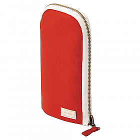 LIHIT LAB HINEMO Stand Pen Pouch - Large - Red