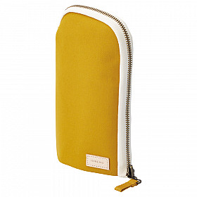 LIHIT LAB HINEMO Stand Pen Pouch - Large - Yellow