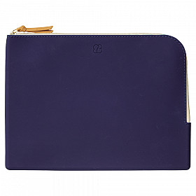 LIHIT LAB Bloomin Flat Pouch - A5 Size - Navy Blue