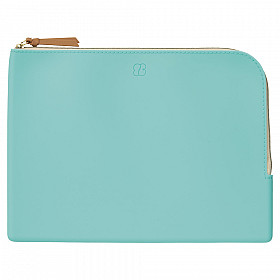 LIHIT LAB Bloomin Flat Pouch - A5 Size - Mint Green