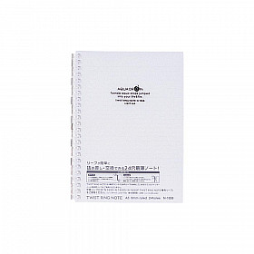 LIHIT LAB Aquadrops Twist Note Notebook - A5 - 30 pages - Ruled - Transparent