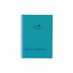 LIHIT LAB Aquadrops Twist Note Notebook - A5 - 30 pages - Ruled - Turquoise