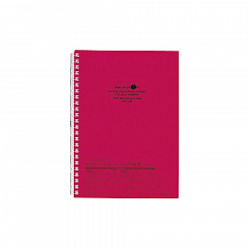 LIHIT LAB Aquadrops Twist Note Notebook - A5 - 30 pages - Ruled - Red