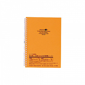 LIHIT LAB Aquadrops Twist Note Notebook - A5 - 30 pages - Ruled - Orange