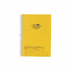 LIHIT LAB Aquadrops Twist Note Notebook - A5 - 30 pages - Ruled - Yellow