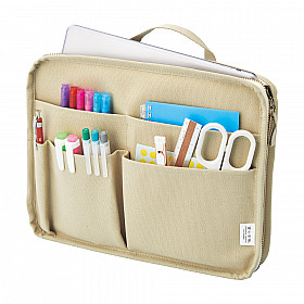 LIHIT LAB HINEMO Stand Pouch - M Size - Beige