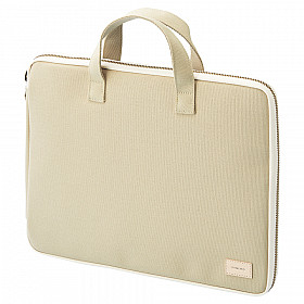 LIHIT LAB HINEMO Stand Pouch & Bag - L Size - Beige