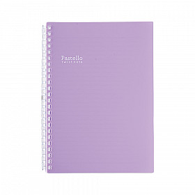LIHIT LAB Pastello Twist Note Notebook - A5 - 30 pages - Ruled - Pastel Purple