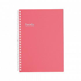 LIHIT LAB Pastello Twist Note Notebook - A5 - 30 pages - Ruled - Pastel Rouge