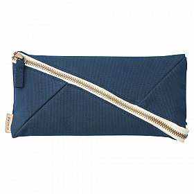 LIHIT LAB HINEMO Wide Open Pen Pouch - Large - Navy Blue