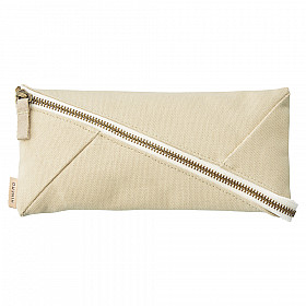 LIHIT LAB HINEMO Wide Open Pen Pouch - Large - Beige
