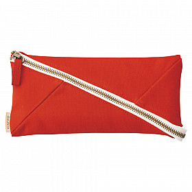 LIHIT LAB HINEMO Wide Open Pen Pouch - Large - Red