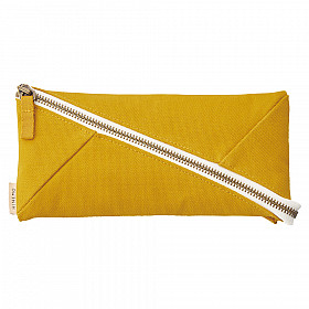 LIHIT LAB HINEMO Wide Open Pen Pouch - Large - Yellow