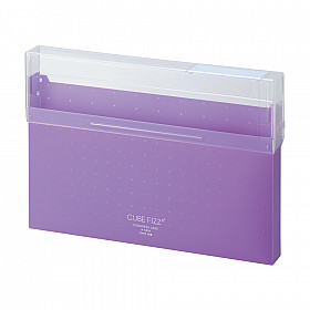 LIHIT LAB Cube Fizz Top Opening Storage Case - A4 - Purple