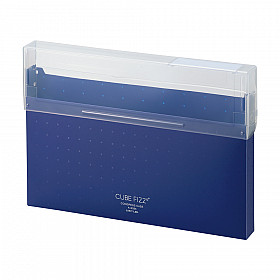 LIHIT LAB Cube Fizz Top Opening Storage Case - A4 - Navy