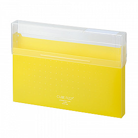 LIHIT LAB Cube Fizz Top Opening Storage Case - A4 - Yellow