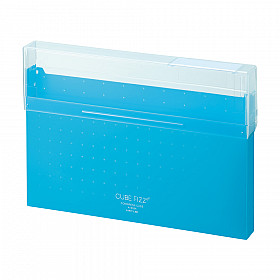 LIHIT LAB Cube Fizz Top Opening Storage Case - A4 - Blue