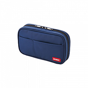 LIHIT LAB Book Type Pen Case - Blue