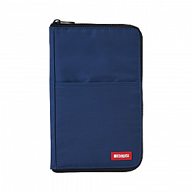 LIHIT LAB Flat Pen Case - Large Size - Blue