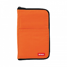 LIHIT LAB Flat Pen Case - Large Size - Orange