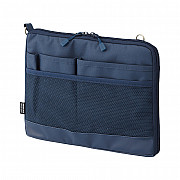 LIHIT LAB Smart Fit Bag in Bag - Horizontal Type - A5 Size - Blue