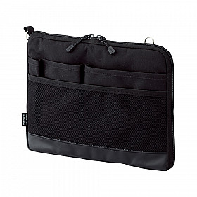 LIHIT LAB Smart Fit Bag in Bag - Horizontal Type - A5 Size - Black