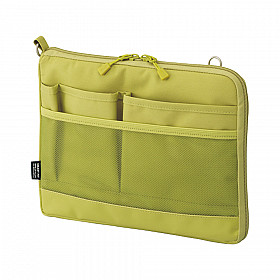 LIHIT LAB Smart Fit Bag in Bag - Horizontal Type - A5 Size - Green