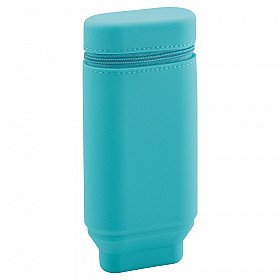 LIHIT LAB Smart Fit Actact Stand Pen Case - Oval Type - Turquoise