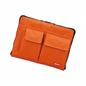 LIHIT LAB Bag in Bag - Horizontal Type - A5 Size - Orange