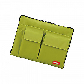 LIHIT LAB Bag in Bag - Horizontal Type - A5 Size - Green