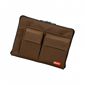 LIHIT LAB Bag in Bag - Horizontal Type - A5 Size - Brown