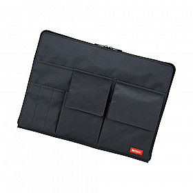 LIHIT LAB Bag in Bag - Horizontal Type - A4 Size - Black
