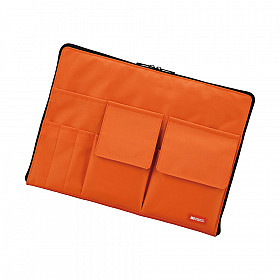 LIHIT LAB Bag in Bag - Horizontal Type - A4 Size - Orange