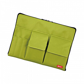 LIHIT LAB Bag in Bag - Horizontal Type - A4 Size - Green