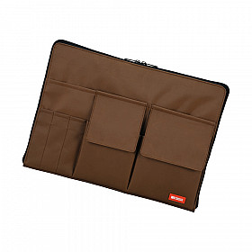 LIHIT LAB Bag in Bag - Horizontal Type - A4 Size - Brown