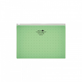 LIHIT LAB Aquadrops Clear Case Zipperbag - Size A5 - Green