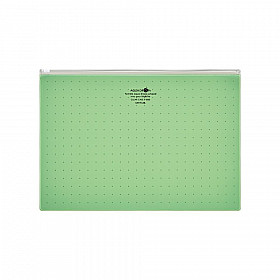 LIHIT LAB Aquadrops Clear Case Zipperbag - Size A4 - Green
