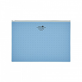 LIHIT LAB Aquadrops Clear Case Zipperbag - Size A4 - Blue