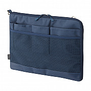 LIHIT LAB Smart Fit Bag in Bag - Horizontal Type - A4 Size - Blue