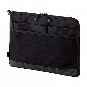 LIHIT LAB Smart Fit Bag in Bag - Horizontal Type - A4 Size - Black