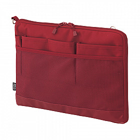 LIHIT LAB Smart Fit Bag in Bag - Horizontal Type - A5 Size - Red